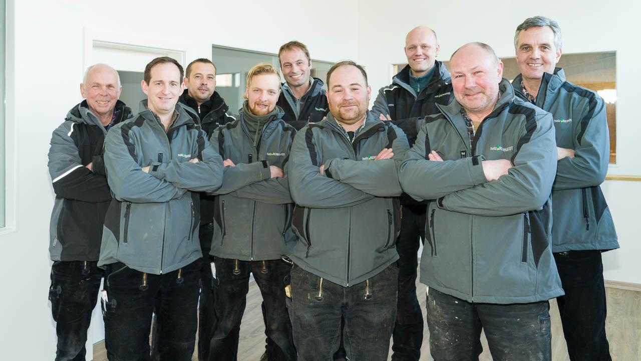Teamfoto Holzbau Reinhardt