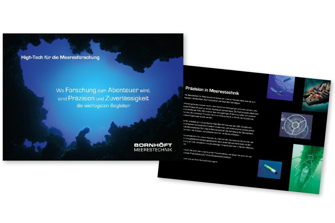 8-seitige Broschüre Meerestechnik