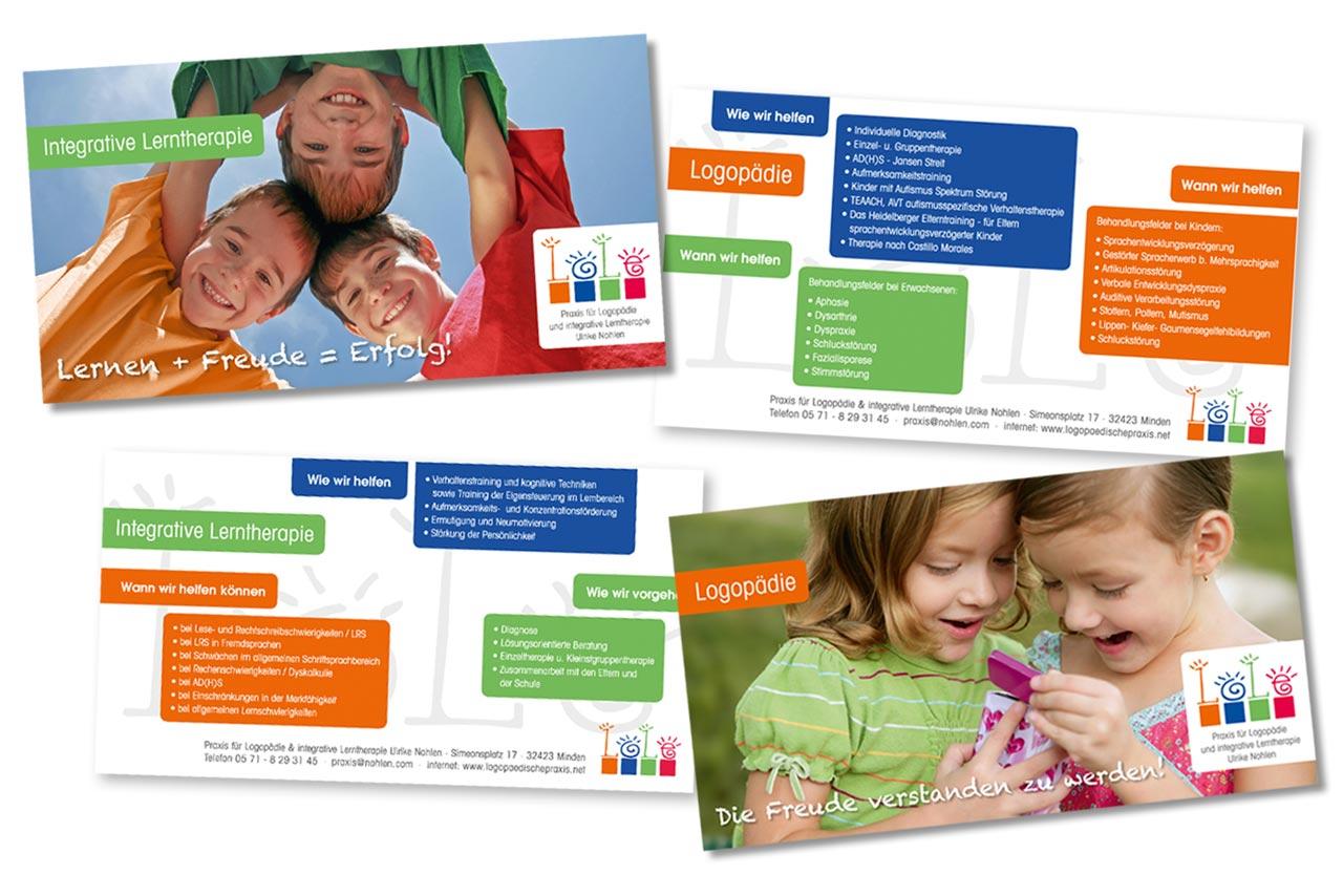 Flyer für Logopäden