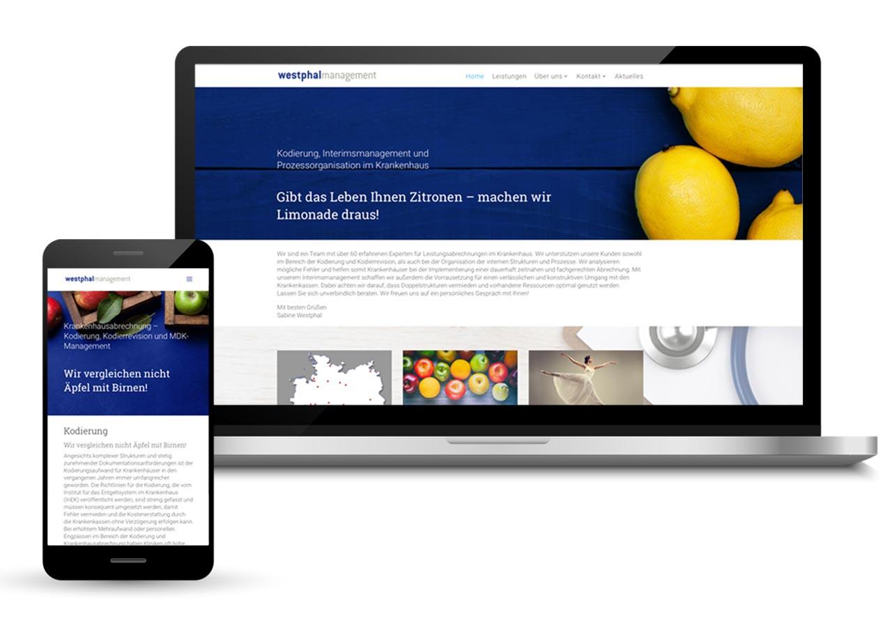 Webdesign für das Management im Gesundheitswesen