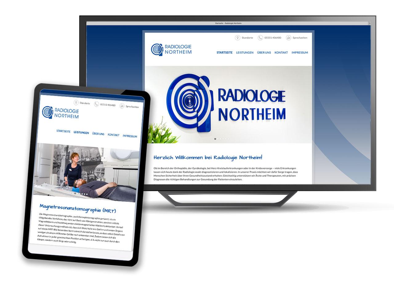 Homepage für Radiologiepraxis